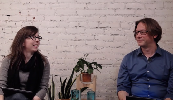 CEO Felicite Moorman and CTO Ryan Buchert talk to each other