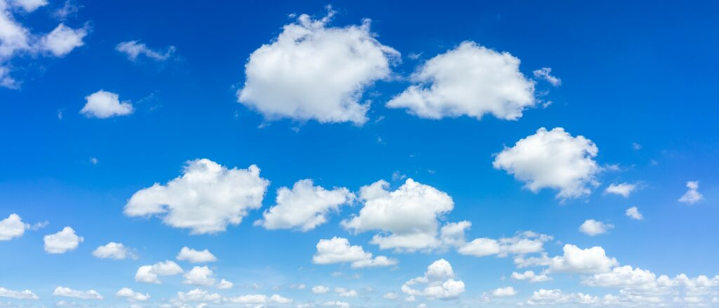 Panorama sky and cloud background